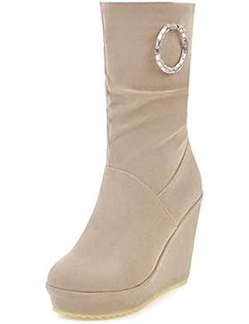 TAOFFEN Stivali Tacco Alto Zeppa Donna Modello Scarpe Pull On