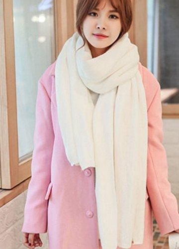 Écharpe en tricot de couleur unie Écharpe en châle d'hiver femme Double usage d'automne et d'hiver épaississement garder bavette de couple chaud ( couleur : 11# ) # 12