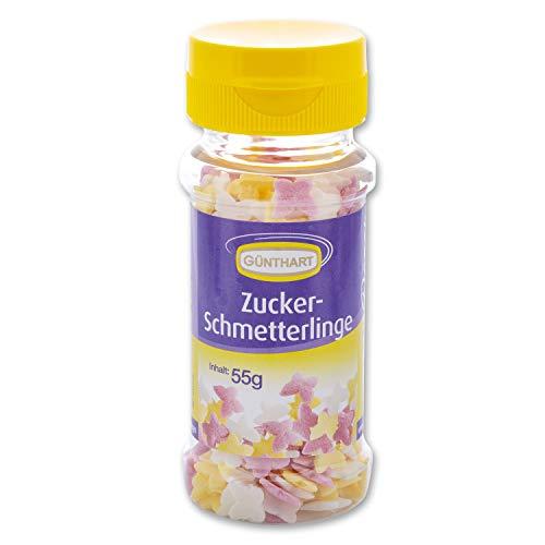 Günthart Streudekor Schmetterlinge | aus Zucker | essbar | Frühling | Garten Partys -