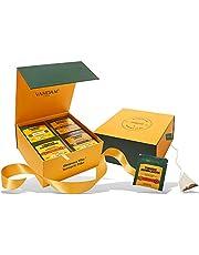 VAHDAM, Turmeric Wellness Tea Bags | 60 Tea Bags of India's Wonder Spice | Turmeric Ginger, Turmeric Moringa, Turmeric Ashwagandha & Turmeric Spices (15 TB of Each) | Detox Tea | Herbal Tea