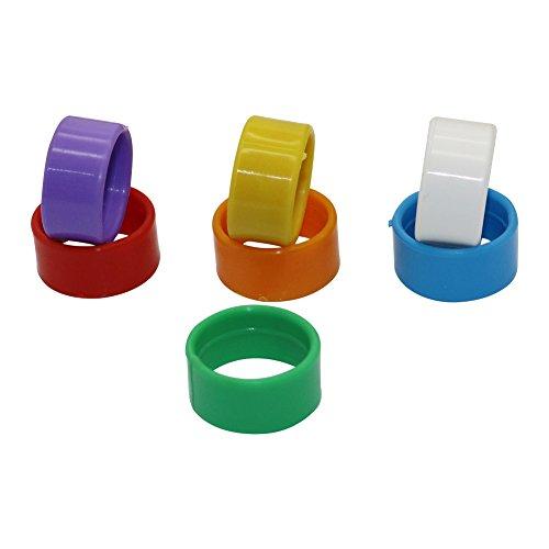 Adhere To Fly 100 Stück 20 mm Hähnchen Leg Bands Geflügel Wachtel Leg Ringe Clips Kunststoff (Mischen Sie Farben)
