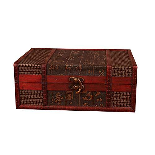 Brownrolly Retro antike Blume geschnitzt aus Holz Schmuck Aufbewahrungsbox, Briefmarken kleine Stamm Schatz Box, Schmuck Display Veranstalter Container Fall -