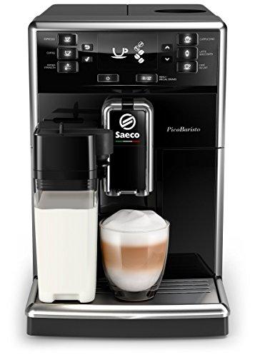 Saeco SM5460/10 PicoBaristo Kaffeevollautomat (1,8L, integriertes Milchsystem, 10 Kaffeespezialitäten) schwarz
