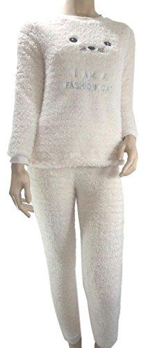 Pyjama femme hiver PILOU Chaud & Douillet ( Ref Jade© ) (XS ( 34/36 ))
