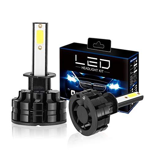 Diesel Auto Zone Lampadine H1 Led 72W 6400LM 6000K Fari LED auto di Luce Bianca con COB Chips Kit di conversione-1 Anno di Garanz