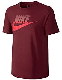 Nike Oversize Speckle Futura – Camiseta, hombre, TEAM RED/TEAM RED/UNIVERSITY R