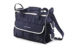 Idea Regalo - CHIC 4 BABY, Borsa fasciatoio LUXURY con accessori, Blu (Classic Line Navy)