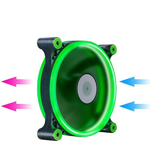(CPU Kühlkörper 120mm 12 cm Doppel Licht Halo LED Fan DC Stummschaltung PC CPU Computer Fall Kühler)