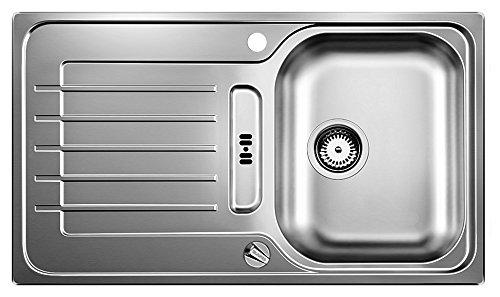 Blanco Zia 45 S Edelstahl-Spüle, Becken reversibel für 45 cm Unterschrank, Bürstfinish, silber, 514614