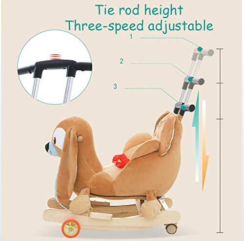 JTYX Bee Children Music Trojan Rocking Horse Baby Rocking Chair Solid Wood Rocking Cradles Birthday Gift JTYX ★ Convenient and practical: The product allows the baby to exercise, grasp, climb, kick, squat, shake, etc., so that the baby can play easily. ★Removable design: The seat cover is detachable, easy to clean, safe in material and does not fade. Made of solid wood and plush, it is more comfortable and safer to sit ★ Heightening base: Scientific anti-rolling, widening and heightening the base to keep the swing amplitude safe. 6