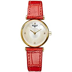 Ladies leather strap watch/ fashion diamond Women Watch/Waterproof quartz watches-C