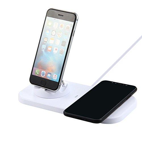 KOBWA Schnelle kabellose Ladestation, USB Zu 3 in 1 Ladestation Ladestation mit Micro USB & Lightning & Typ-C für iPhone Samsung Galaxy S8 HTC und Android Geräte Usb-sync-charge-desktop-docking
