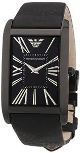 Reloj Emporio Armani AR2060 de cuarzo para hombre con correa de piel, color negro de Armani