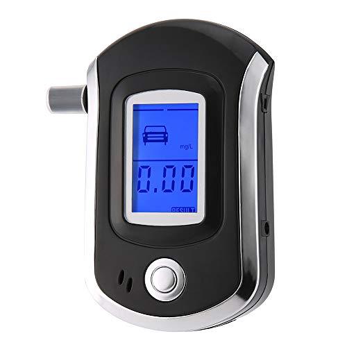 KKmoon Alkoholtester Digital LCD Bildschirm Display Tragbar Halbleiter Sensor Alkoholmessgerät Atemalkoholtester Akustischer Alarm mit 20 Mundstücke