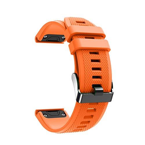 Happysdh Armband für Garmin Fenix 5X/5X Plus/Fenix 3/3 HR, Smartwatch Zubehör TPU Ersatzarmband Armbänder Smartwatch für Männer Frauen