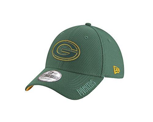 New Era NFL Green Bay Packers Official 2018 Training 39Thirty Stretch Cap - Grau Größe S-M, Farbe Rot