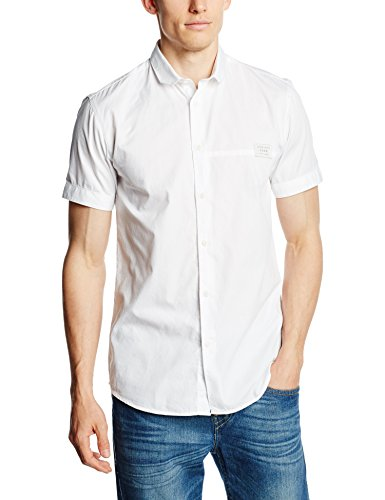 Jack & Jones Jcobean Shirt Plain S/s, Veston Homme Blanc (White Fit:SLIM)