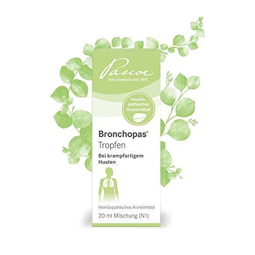 Husten Medizin (Bronchopas Tropfen | bei krampfartigem Husten | z.B. bei Bronchitis oder Asthma | 20 ml)