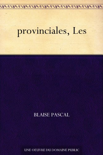 Couverture du livre provinciales, Les