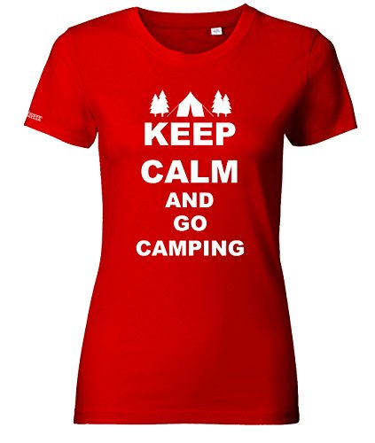 KEEP CALM AND GO CAMPING - WOMEN T-SHIRT by Jayess Rot