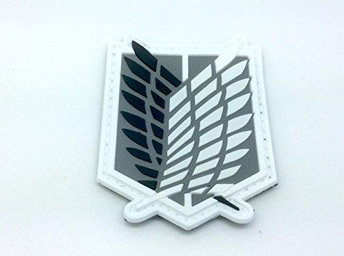 Preisvergleich Produktbild Shingeki No Kyojin Attack Titan Recon Corps Schwarz Cosplay PVC Klett Abzeichen
