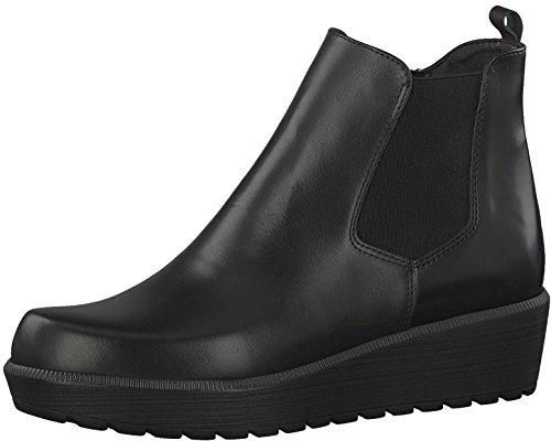 Tamaris Damenschuhe 1-1-25486-29 Damen Stiefel, Boots, Damen Stiefeletten, Herbstschuhe & Winterschuhe für modebewusste Frau schwarz (BLK/BLK Brush), EU 39