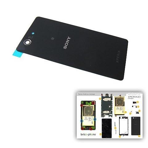 Sony Xperia Z3 Compact vitre arrière noire Vitre d