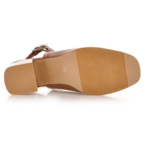 JOJONUNU Femmes Open Back Sandales brown