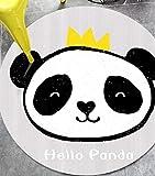 ZXHJK Panda Classic Teppich Tisch- Und Stuhlkissen Korridor 80X80Cm