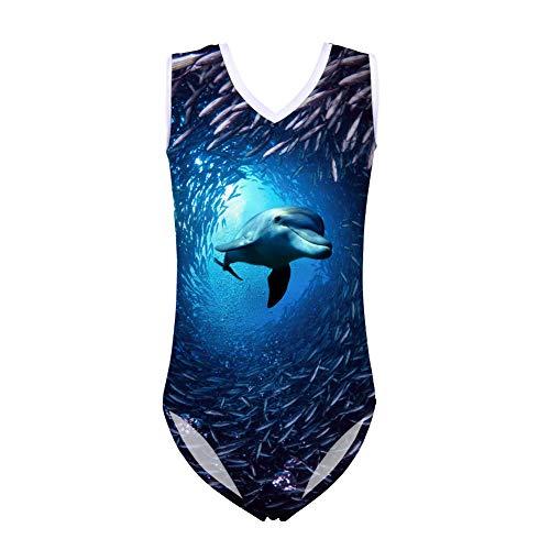 Showudesigns Mädchen Badeanzug Gr. 11-12 Jahre, Delfin