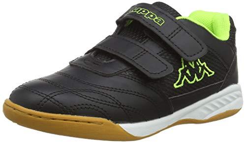 Kappa Kickoff, Zapatillas de Deporte Interior Unisex Niños, Negro Black/Yellow 1140, 29 EU