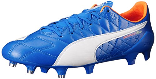 Pelle Puma Evospeed Sl Fg Scarpe da calcio Electric Blue Lemonade/White/Orange Clown Fish