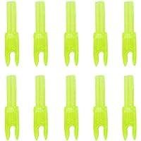 10x Flecha Cabeza Culatin Accesorio de Tiro Con Plástico Amarillo Transparente