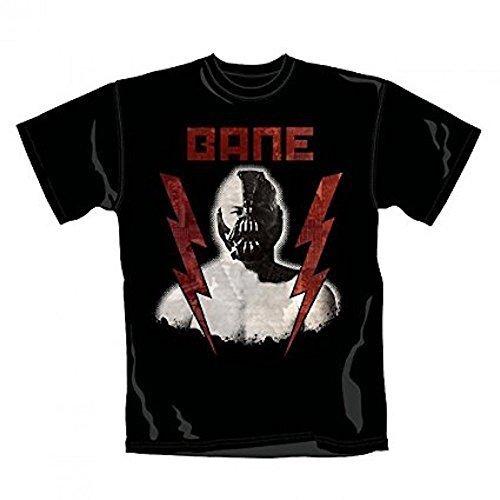 BATMAN - Bane Rayo - Camiseta Oficial Hombre - Negro, Small