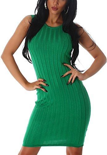 Jela London - Robe - Crayon - Uni - Sans Manche - Femme Vert - Vert