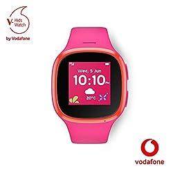V-Kids Watch by Vodafone - Smartwatch mit GPS-Tracker und SOS-Alarmknopf, rosa