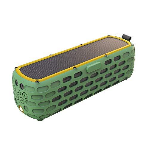 Solar-Bluetooth-Lautsprecher, CYBORIS 30 Stunden Spielzeit verbesserte 2. Generation Wireless-HiFi-Portable Bluetooth 4.0 Stereo-Lautsprecher Solar Powered Stoßfest und wasserdicht für (Grün)