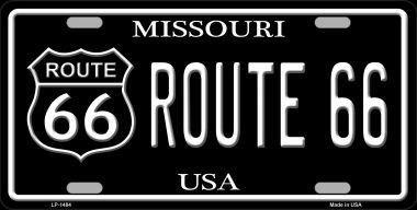 Ganheuze Smart Blonde Route 66 Missouri Metal Novelty License Plate 1484 (Missouri License Plate)