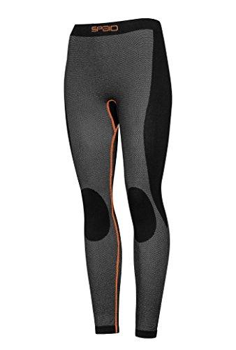 TESPOL funktionale Damen-Thermohose Funktionshose, schwarz, Gr. M - Nahtlose Thermo-unterwäsche