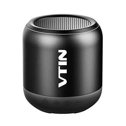 VICTSING K1 Mini Altavoz Bluetooth Portátiles, Sonido con Estéreo Premium 8W, Tamaño Pequeño y HiFi Potente los Bajos, 3 Modos : conexión bluetooh, Cable USB-Jack y Tarjeta SD.