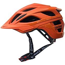 HardnutZ Hn108 Cycle Mtb - Casco, Unisex, color naranja, tamaño 58-62 cm