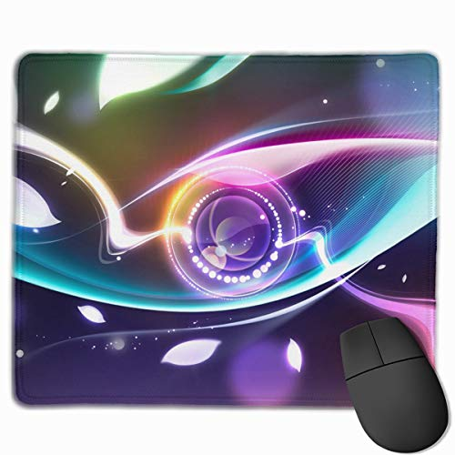Gaming Mauspad Circle Lens Colored Leaves Rubber Mousepad (30 x 25 cm) | Fransenfreie Ränder | Rutschfest