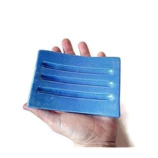 Plain Blue Soap Dish Ceramic, Handmade Soap Dish Drain