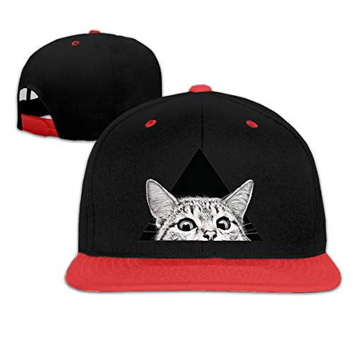 Dama Home EL gato te está mirando Unisex Ajustable Gorras de béisbol para niños Denim Sombreros Cowboy Sport al aire Libre -
