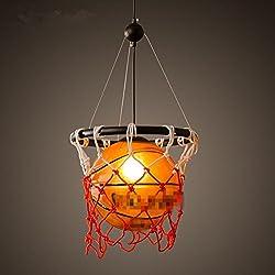 Lámparas De Cristal De Baloncesto Creativos Estadounidenses Lámparas Restaurante Bar Iluminación Del Hogar Que Viven De Iluminación Moderno De Cristal Del Dormitorio Del Sitio