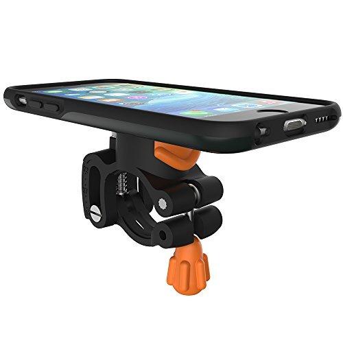 Morpheus Labs M4 BikeKit - iPhone 6/6s Bike Kit - Fahrrad Handyhalterung - iPhone 6/6s Hülle & Fahrradhalterung mit patentiertem Magnet-Verschluss incl. RainCover anthrazit  [Dark Slate]