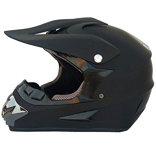 GAOLI Motocross-Helm, Adult MX Off-Road Motorrad, AM Mountain Bike Full Face Helmet, Moto Racing Full face Helm für Mann und Frau, D. O. T Zertifikat,B,S (Full Face Mountain Bike Helm)