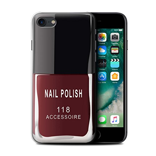 Stuff4 Hülle / Case für Apple iPhone 8 Plus / Rot Muster / Nagellack/Make-Up Kollektion Rot