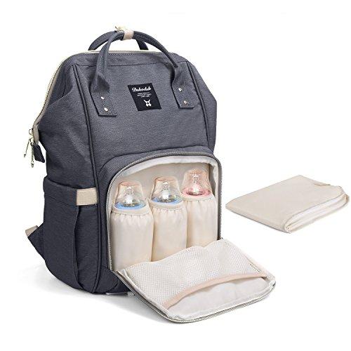 Baby Wickelrucksack Wickeltasche mit Wickelunterlage Multifunktional Segeltuch Große Kapazität Babytasche Kein Formaldehyd Reisetasche für Unterwegs Test