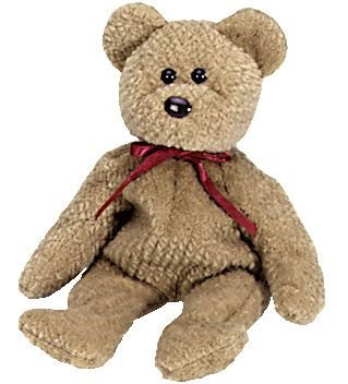 TY Beanie Babies Curly Bear Plush Toy Stuffed Animal by G99728074 Curly Beanie Baby